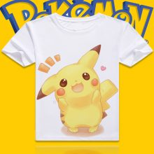 Pokemon PIKACHU Cartoon Printed Short Sleeves Tshirt